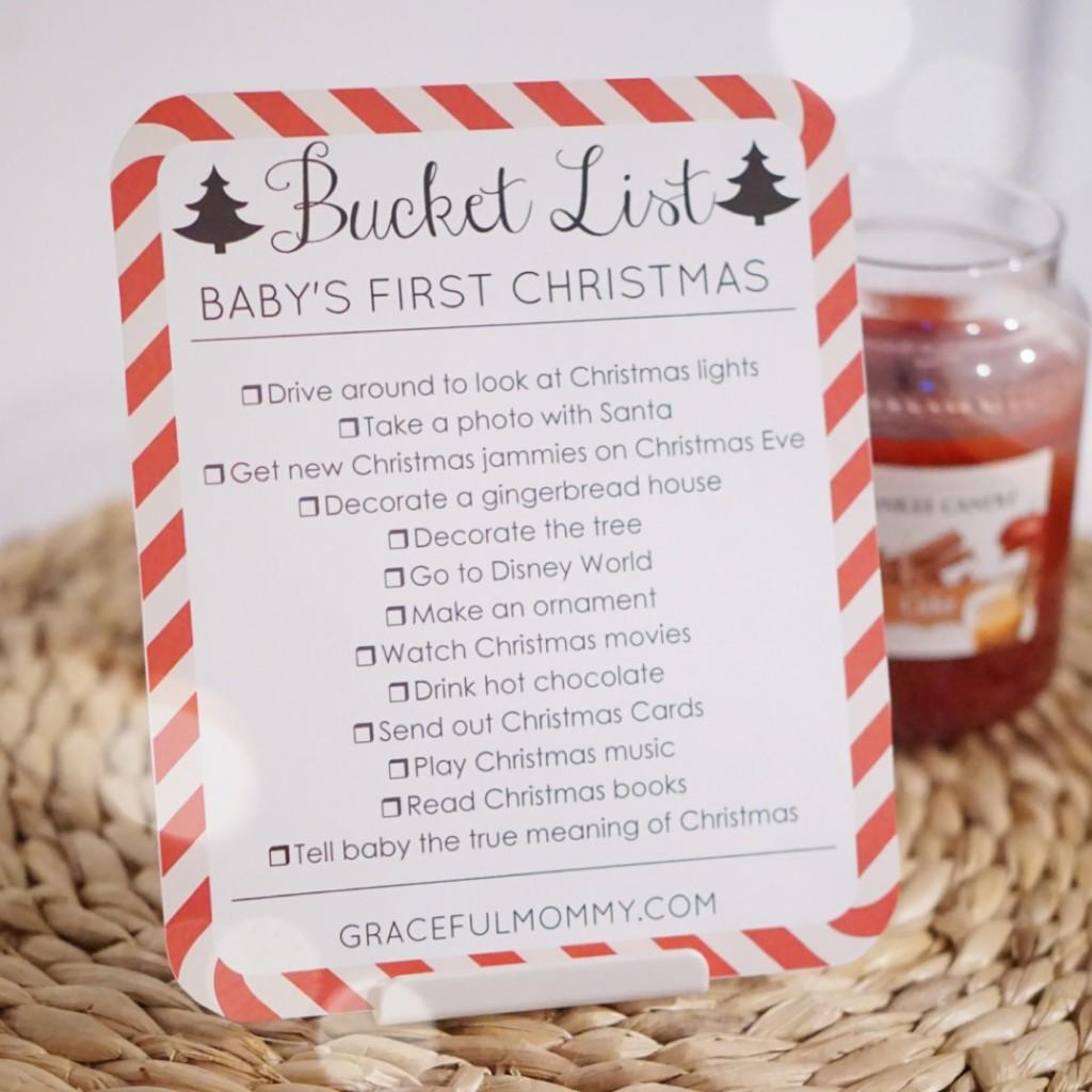 FREE PRINTABLE Christmas Bucket list | gracefulmommy.com