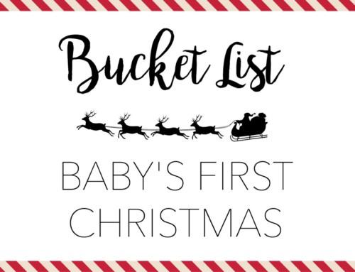Christmas time baby bucket list