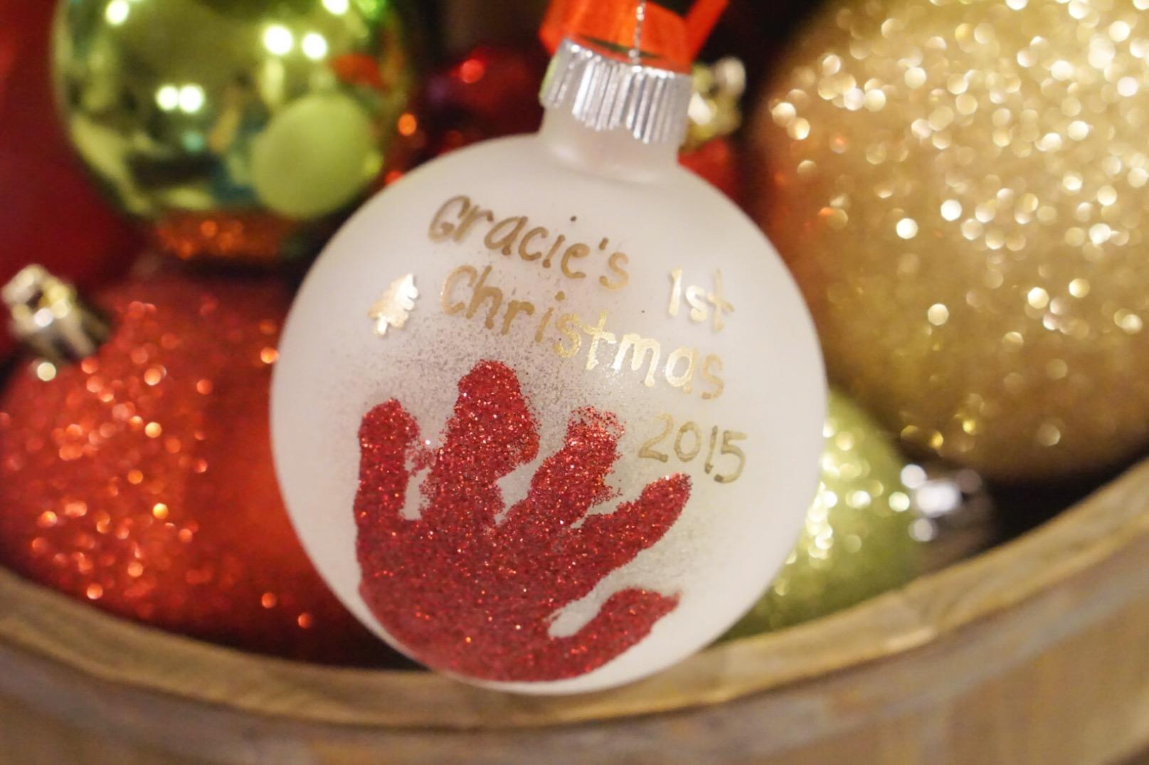 Diy Baby Handprint Ornament Graceful Mommy