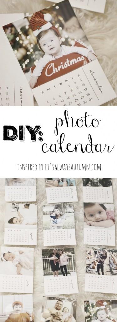 DIY Photo Calendar. Such a cute gift idea!