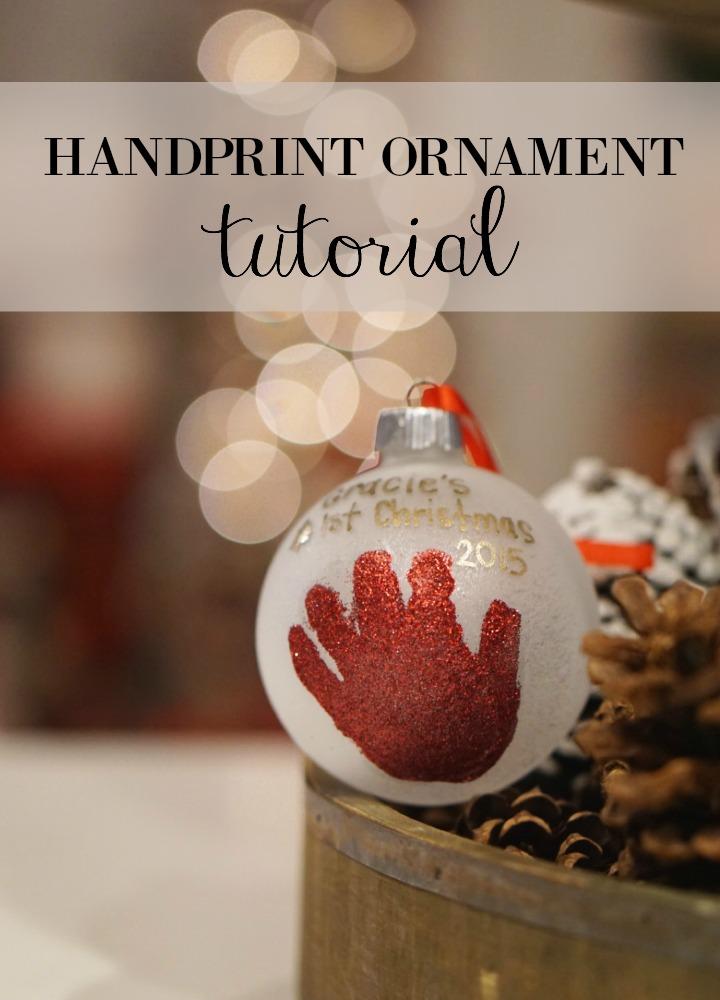 handprint ornament tutorial || Gracefulmommy.com