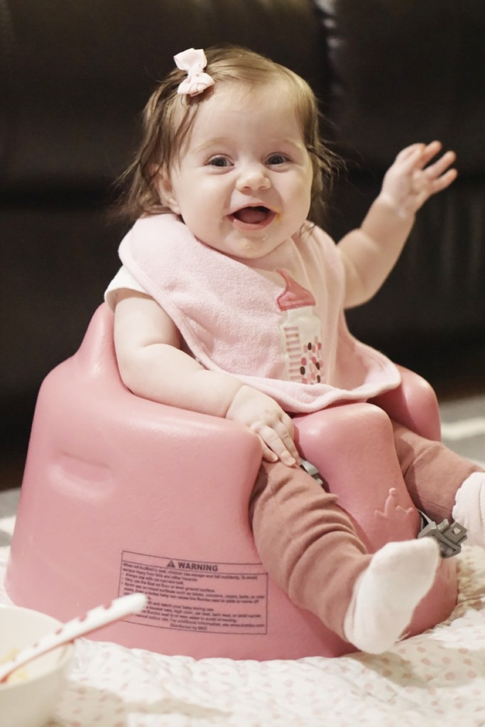 One mom's review of the Bumbo seat || Gracefulmommy.com