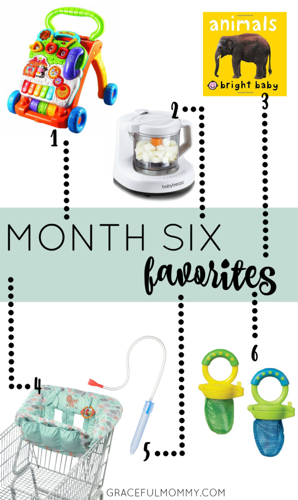 Favorite baby products for month 6! Great list + ideas | gracefulmommy.com