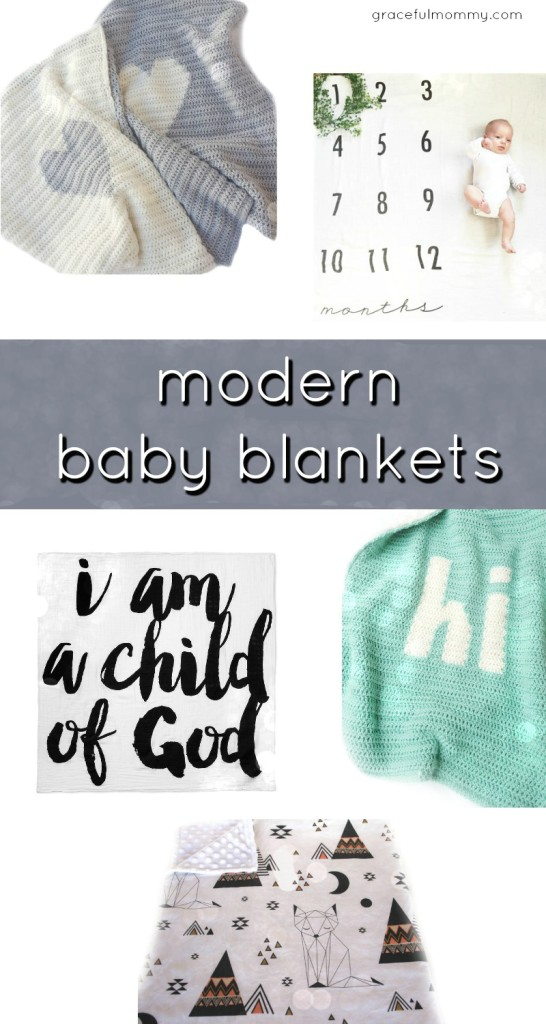 Best modern baby blankets for baby. Great gift ideas for new moms! Gracefulmommy.com