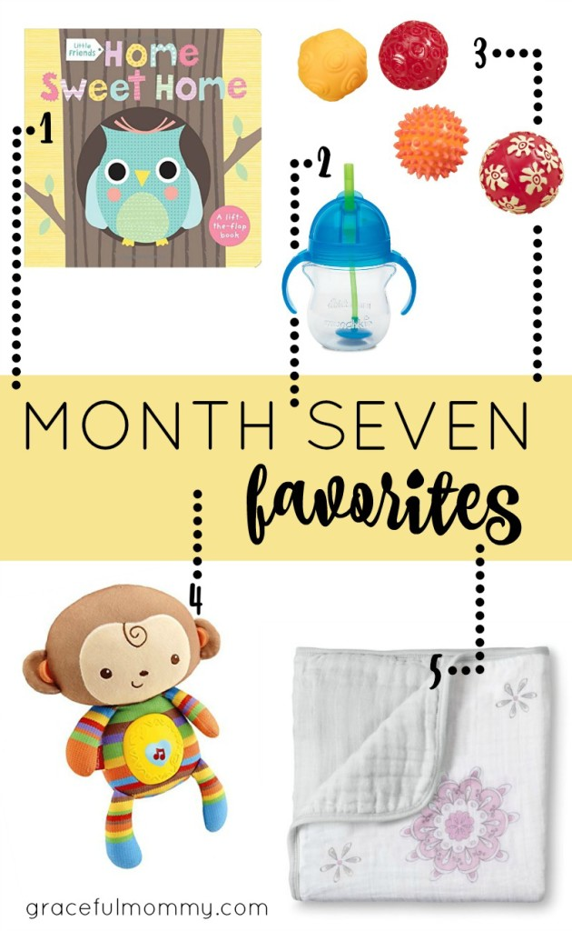 Favorite baby products for month 7! Great list + ideas | gracefulmommy.com