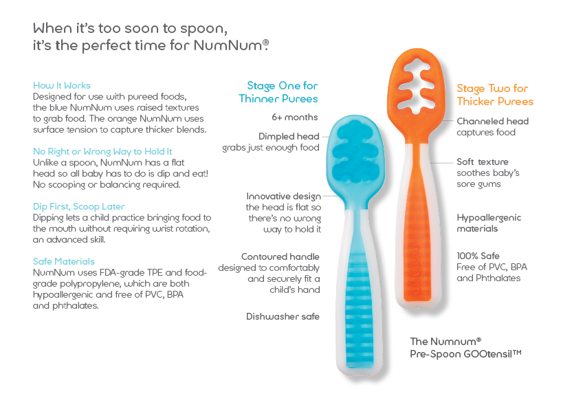 NumNum GOOtensil Review + video! This is the perfect utensil for babies to use before they master the spoon! Gracefulmommy.com