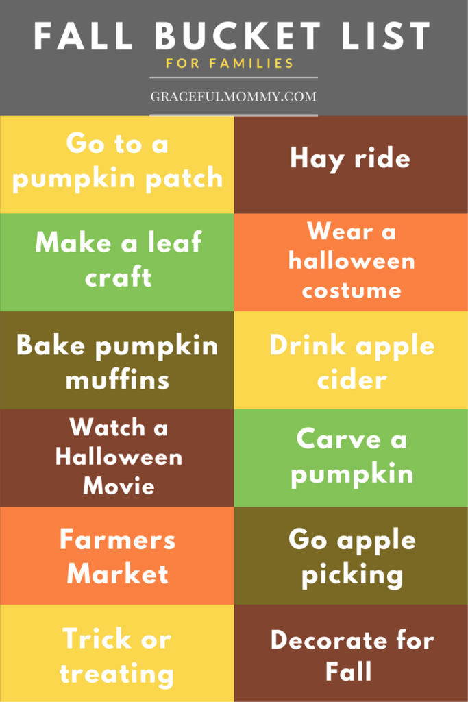Fall Bucket List! I love how simple this list is- I can't wait to do all of these things with Gracie! We love fall!!!