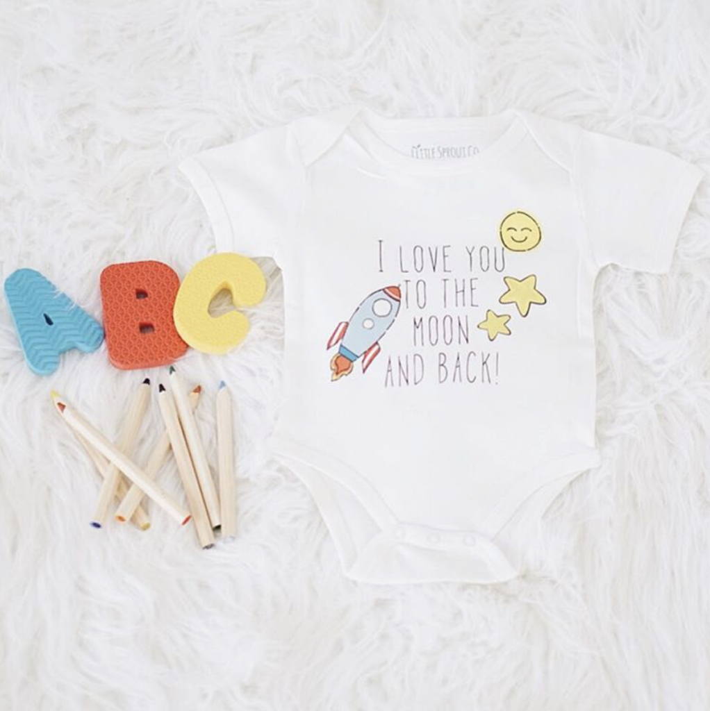 Adorable organic baby clothing shop called Little Sprout Co. They have the cutest designs!!