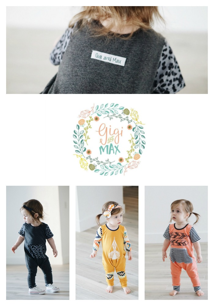Gigi & Max is an adorable baby shop that sells these super comfy rompers! How cute!!!