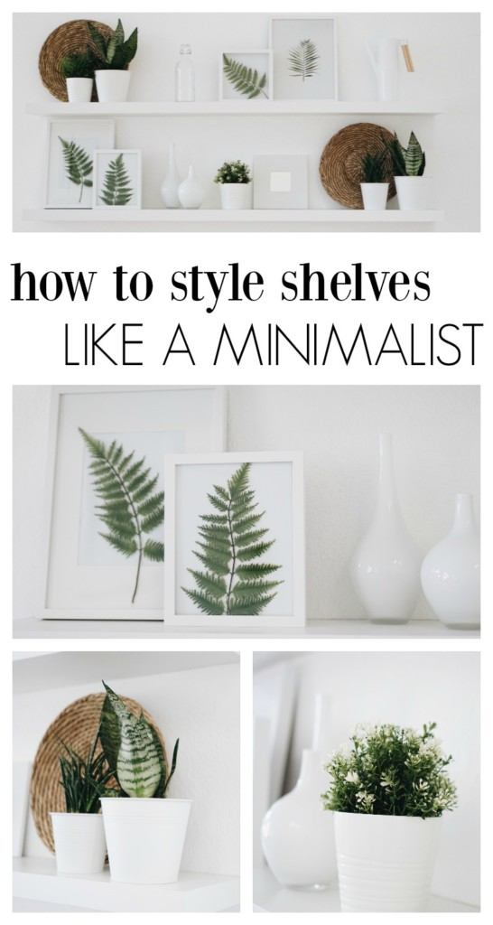 How to style shelves like a minimalist! This is gorgeous- pinning for later!