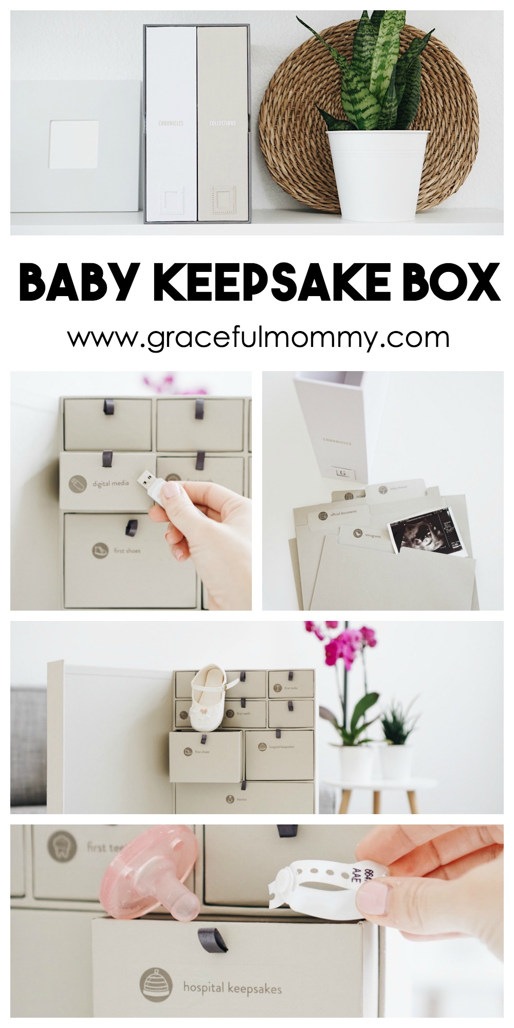Amazing Keepsake Box from Savor. Perfect for storing all of baby's most important keepsakes + memories! read more on gracefulmommy.com