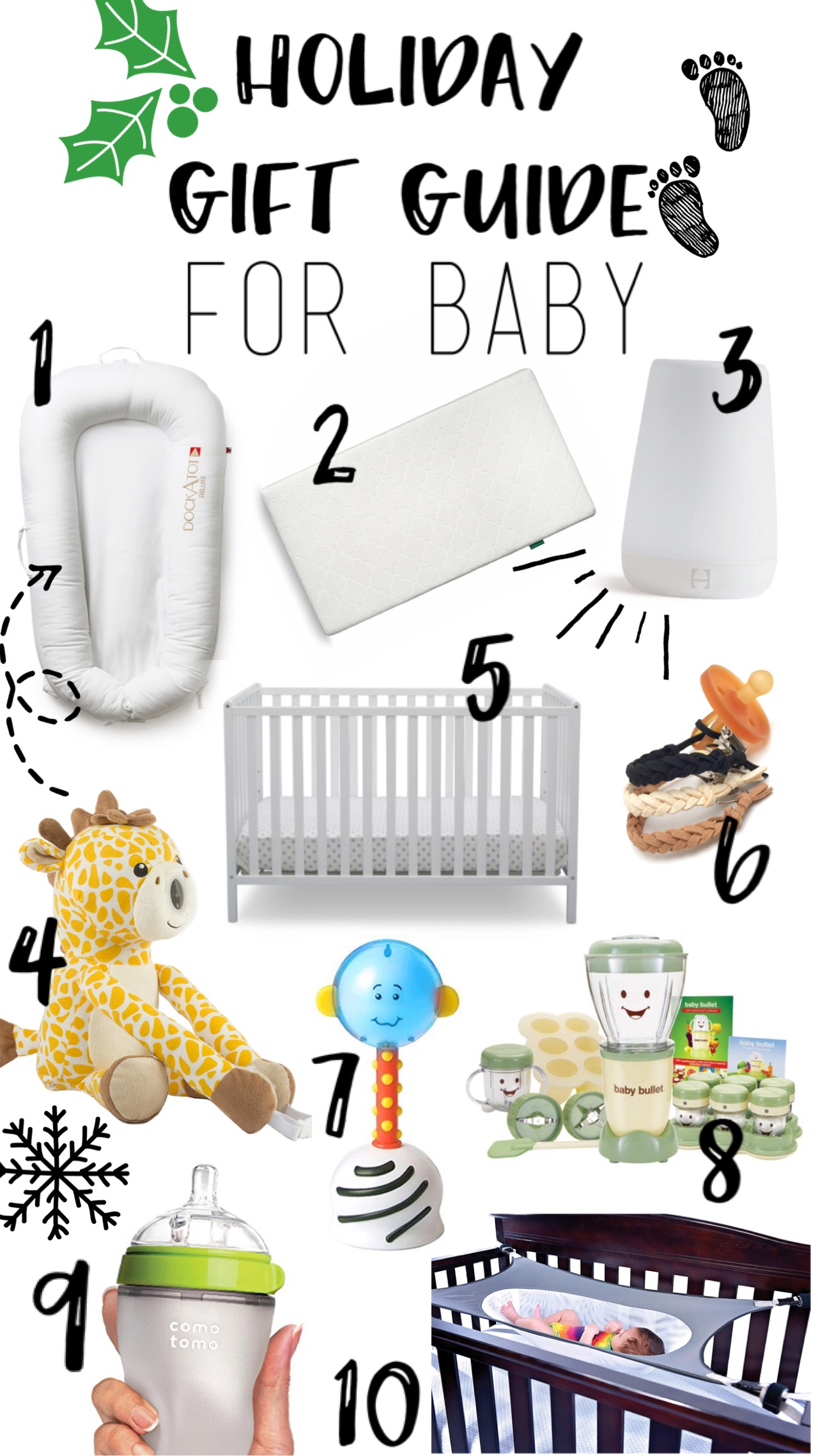 Holiday Gift Guide For Baby 2017 - Great list of items perfect for Baby's First Year
