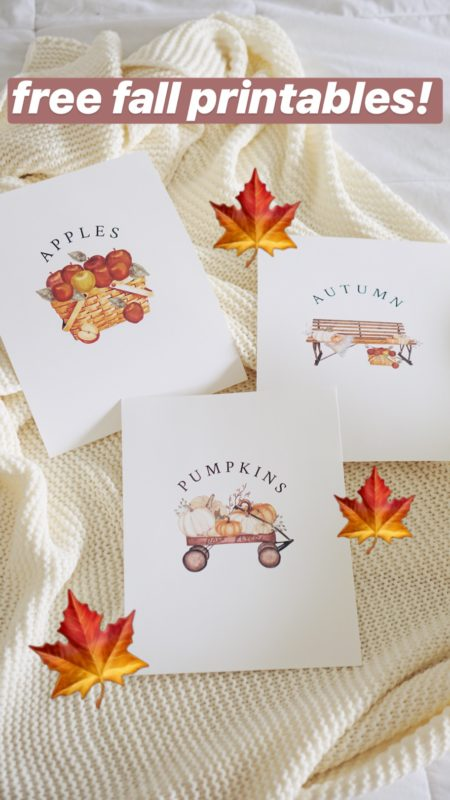DIY Fall Home Decor with these Free Fall Printables!