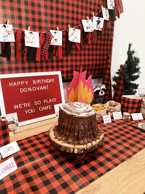 How to throw a lumberjack themed birthday party!