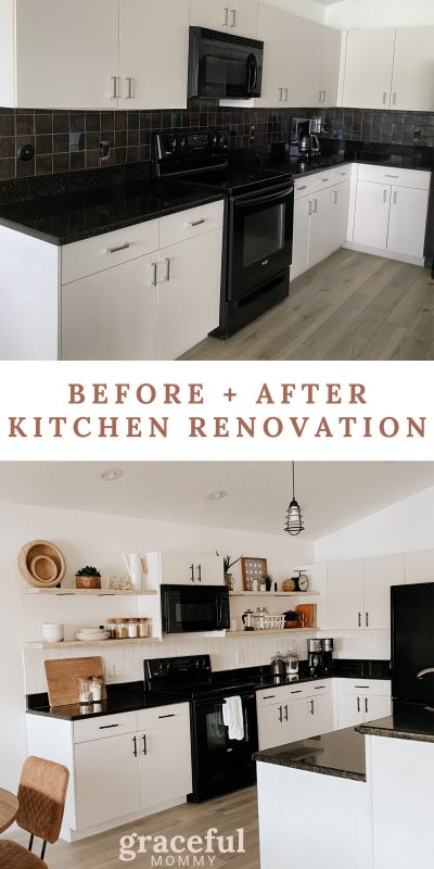 DIY OPEN SHELVING KITCHEN RENOVATION